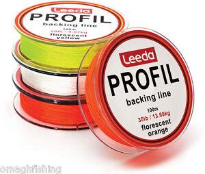 Leeda-Profil-Fly-Line-Backing-Line-100m-20LB-30LB-3-Colours-Trout-Salmon-Fishing
