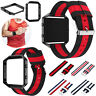 Sport Watch Band Strap Bracelet Nylon + Metal Frame for Fitbit Blaze Replacement