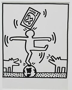 Keith-Haring-Untitled-Lithograph-from-Lucio-Amelio-suite-ed-of-only-300-rare