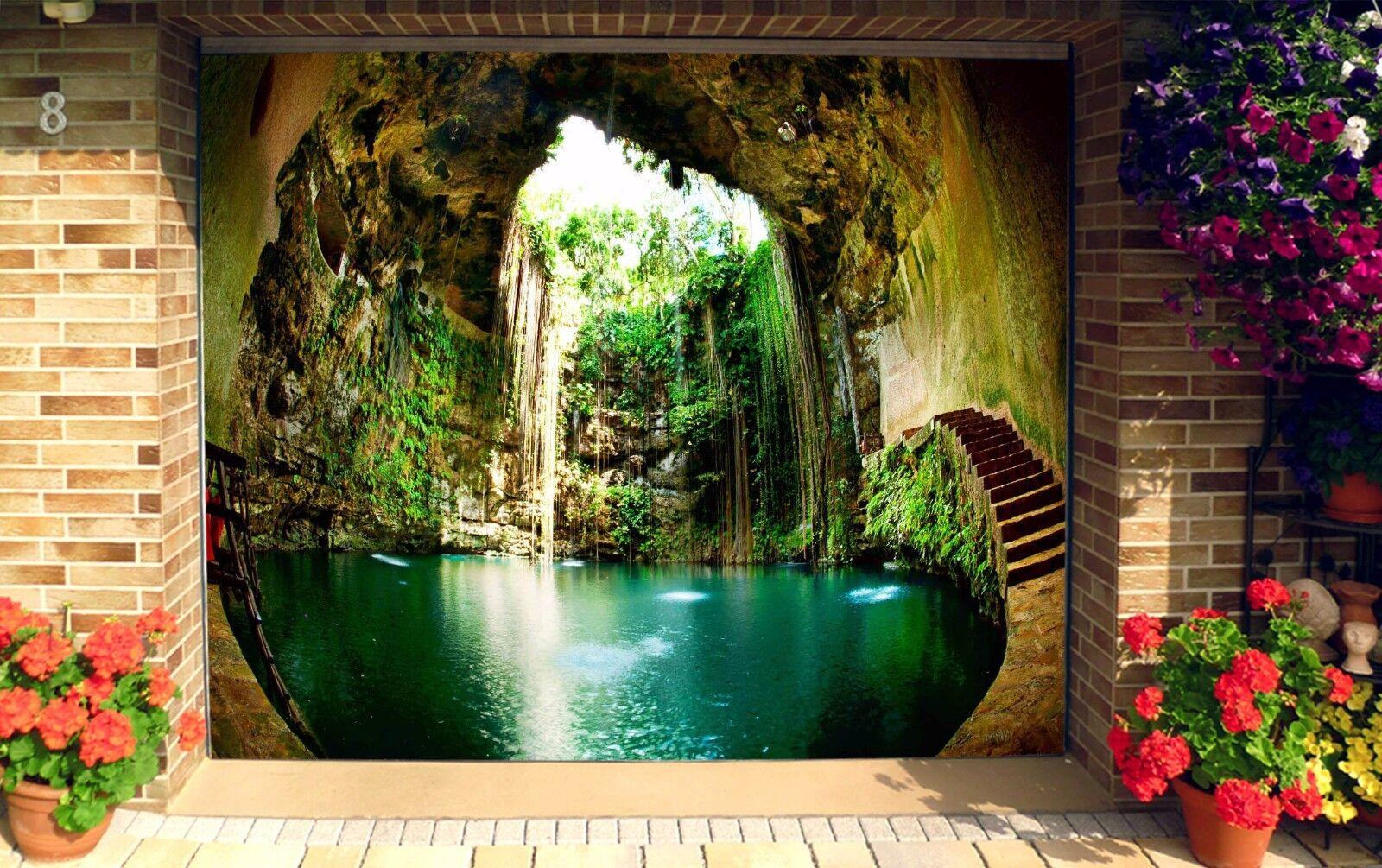 3D Nice pool cave Garage Door Murals Wall Print Decal Wall Deco AJ WALLPAPER UK