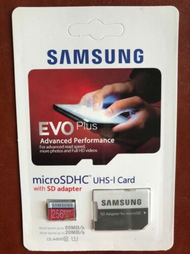 1 of 1 - New 256GB EVO Plus Class 10 95MB/s Micro SD SDXC Memory Card  A10