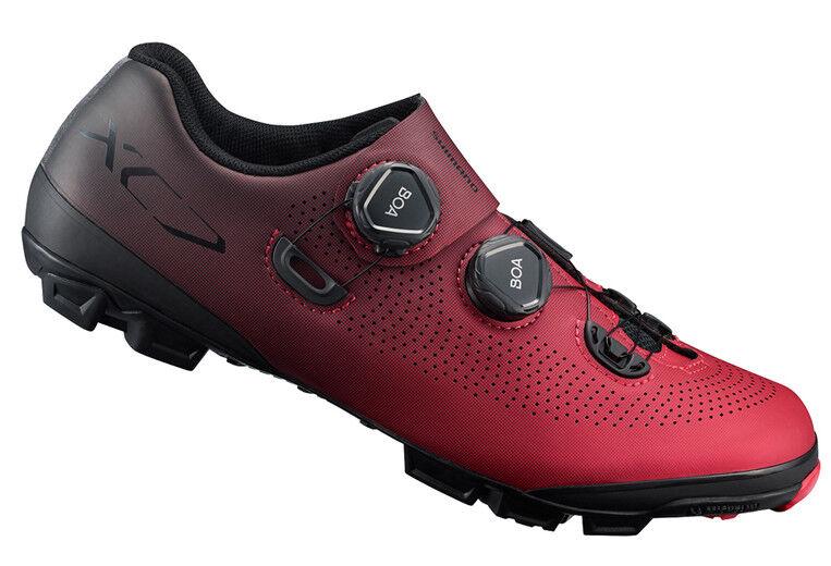 Shimano XC7 de Carbono Bicicleta De Montaña Bicicleta de montaña Boa Zapatos Rojo SH-XC701 41 (US 7.6)