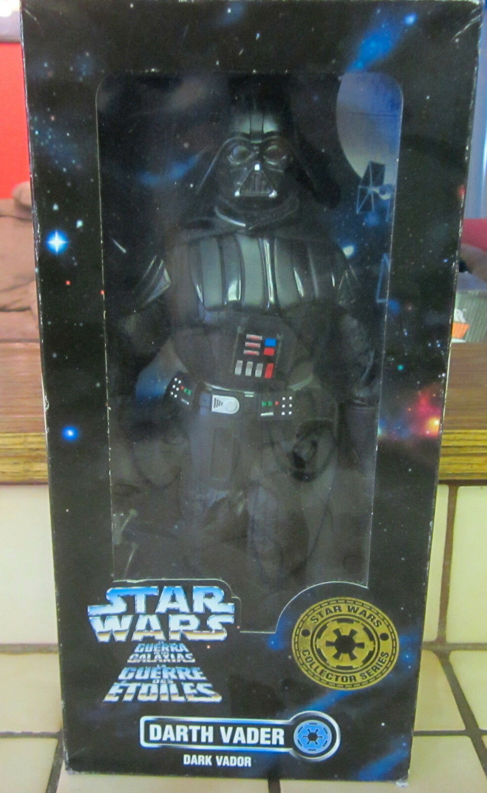 1996 kenner star - wars - sammler - serie 12  - figur darth vader nib -