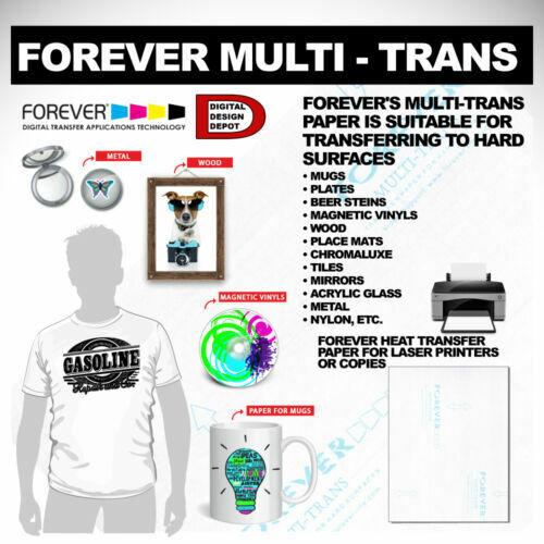 "100 Sheets  888610 Forever Multi-Trans Heat Transfer Paper 8.5/"" x 11/"""