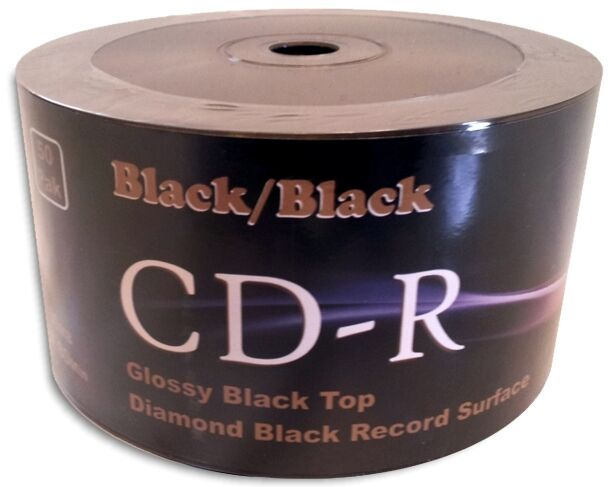 600-Pak =DOUBLE-SIDED BLACK/BLACK= Diamond Black Record Surface 52X CD-R's