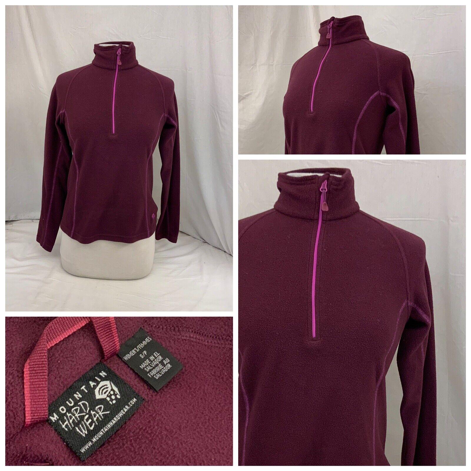 Mountain Hardwear Fleece Pullover S Purple 1/4 Zip EUC YGI W0-528