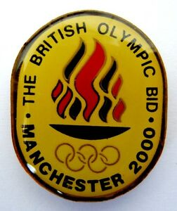 Manchester 2000 British Olympic Bid Pin Summer Candidate City Pin Olympiad Ebay