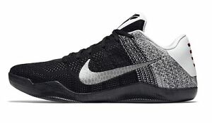 low priced 13a76 d48fd Image is loading Nike-Kobe-11-XI-Last-Emperor-Black-White-