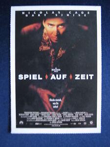 Filmplakatkarte-cinema-Spiel-auf-Zeit-Nicolas-Cage-Gary-Sinise-John-Heard