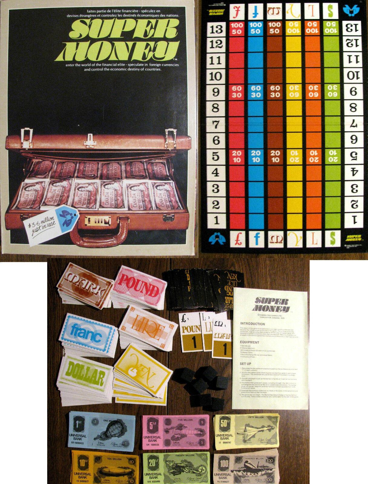 completare Vintage 1978 SUPER MONEY Gamma  Two giocos  2008 MINT VERY RARE  incentivi promozionali