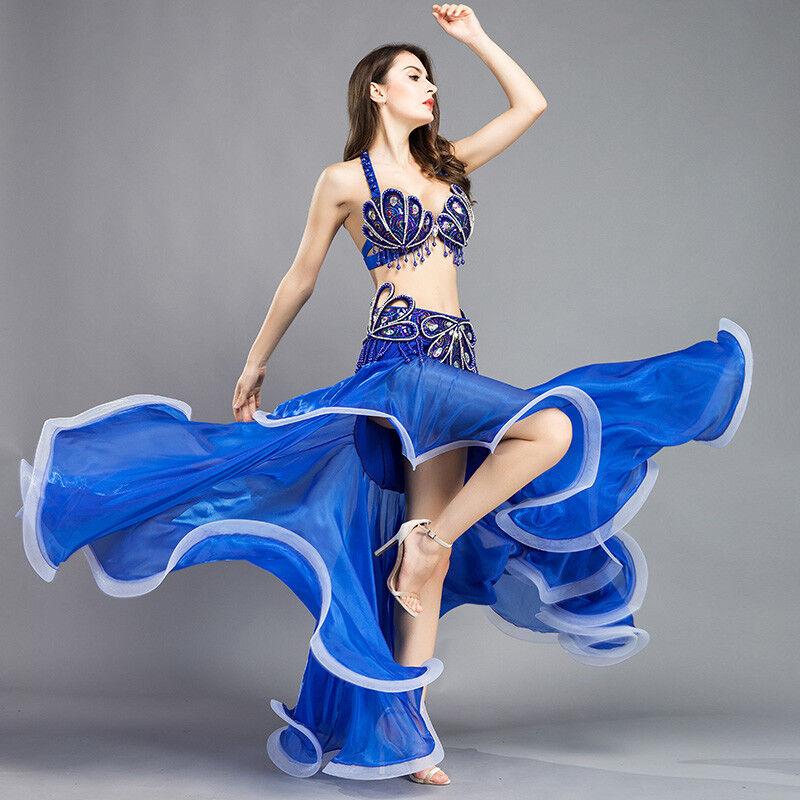 Profilo a2001 danza del ventre costume reggiseno  CINTURA  Rock in coda di pavonemotive Belly Dance