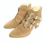 thumbnail 2 - ASOS Ryder Suede Buckle Western Taupe Ankle Boots 3 Retail £65