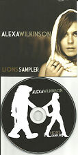 ALEXA WILKINSON 2008 Lions ULTRA RARE 4 TRK SAMPLER PROMO DJ CD Single USA MINT