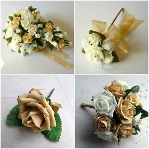 Bouquet Sposa Nozze Doro.Fiori Artificiali Oro Nozze Bouquet Sposa Damigella D Onore