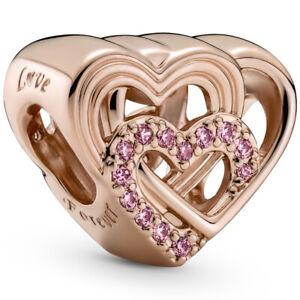 Original PANDORA® ROSE Charm Element 789529 C01 Liebesherzen Heart Herz Bead