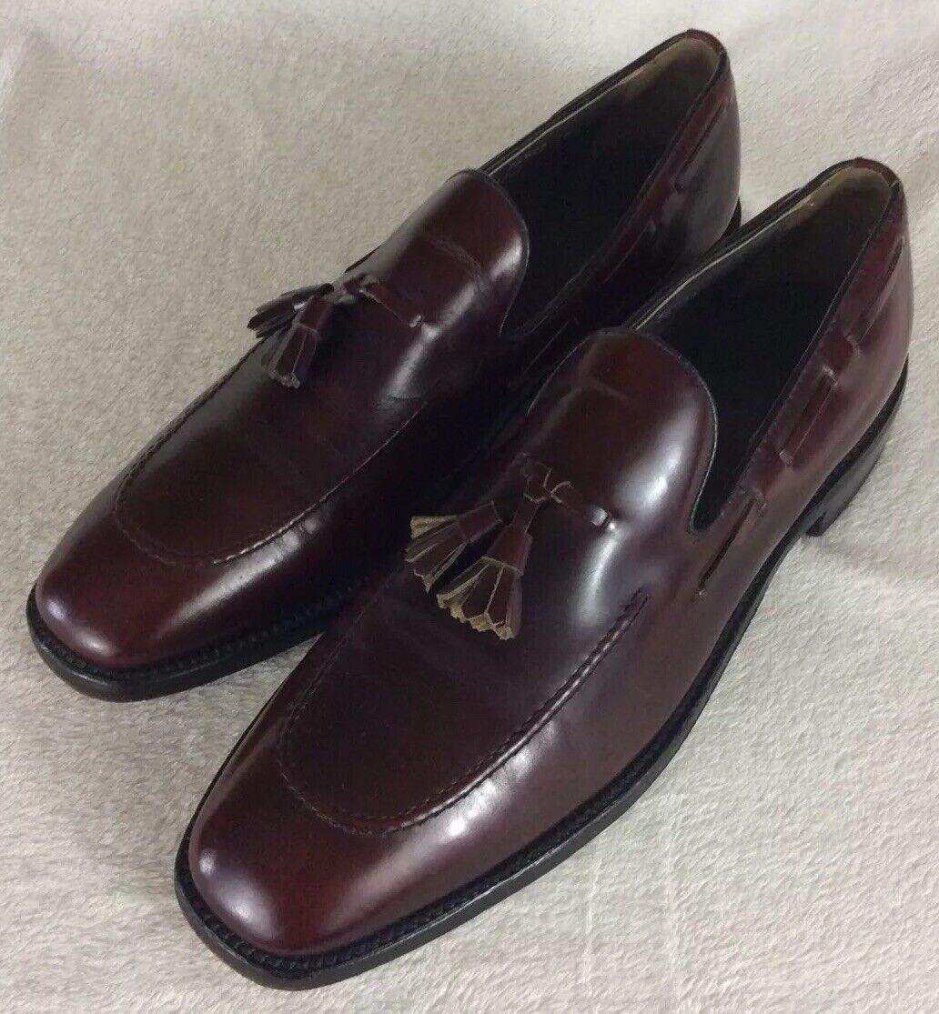 Nettleton Vintage Burgundy Tassel Loafers shoes Men's Size 11.5 B AA Made in USA