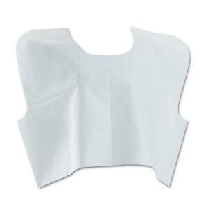 Details about Medline Disposable Patient Capes 3-Ply T/P/T 30 in  x 21 in   White 100/Carton
