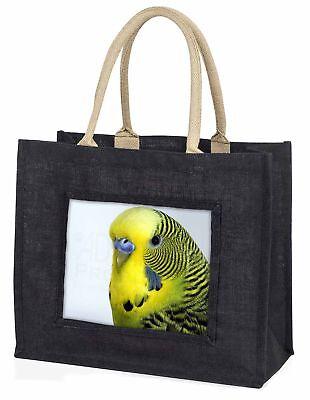 Gelber Wellensittich,Wellensittich große schwarze Einkaufstasche