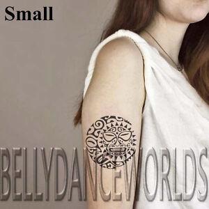 Small Or Large Tribal Maori Polynesian Sun Moon Temporary Tattoo