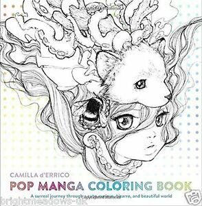 Pop Manga Anime Adult Colouring Book Japanese Beautiful Girls Art