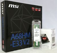 Msi A68hm-e33 V2 Amd A4-7300 3.8ghz 8gb Ddr3 Upgrade Kit (pre-assembled/tested)