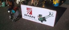 Vintage Metal Ransones Ryan Outboard Tiller Sign garden Tools Lawn Mower
