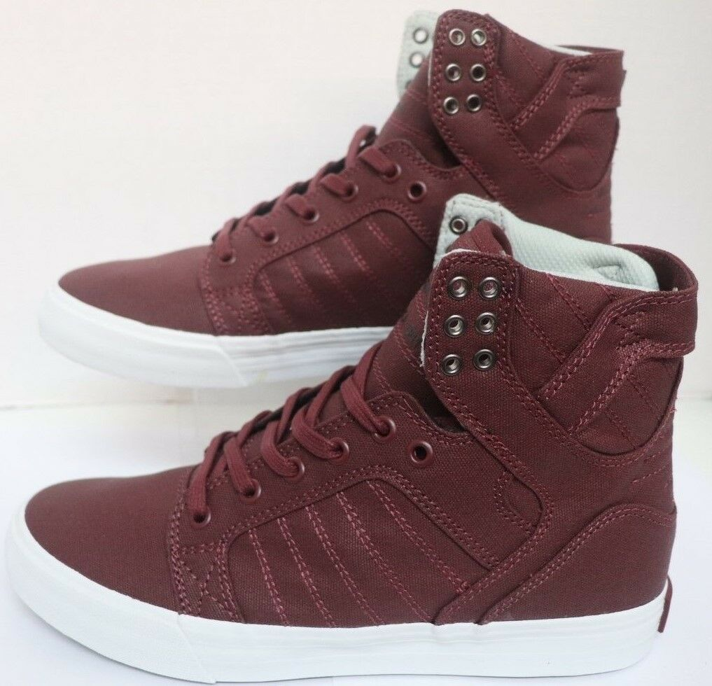 Supra Skytop Burgundy White 08002-650-M Men Size's