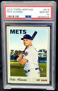 2019-Topps-Heritage-RC-NY-Mets-PETE-ALONSO-Rookie-Baseball-Card-PSA-10-GEM-MINT