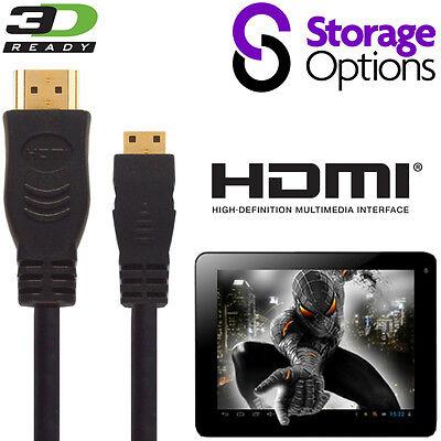Generoso Storage Options Scroll 7, Excel Tablet Hdmi Mini A Hdmi Tv 2.5m Wire Cavo Di Piombo-mostra Il Titolo Originale Con Il Miglior Servizio