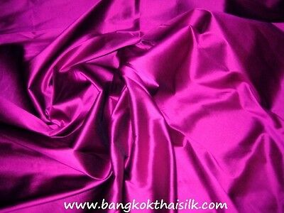 "100% Pure Silk Fabric 16mm Weight 40""W BTY Color #1-30 Wedding Drape Craft Dress"