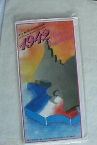 Ancienne Carte Anniversaire Neuve Avec Enveloppe Année De Naissance 1942 Couleurs Harmonieuses