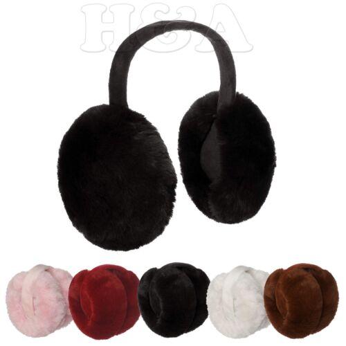 Fall Winter Oversized Warm Chic Fuzzy Earmuffs Faux Fur Soft Jumbo Ear Warmer