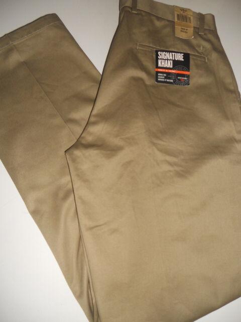 NWT DOCKERS LEVI'S D3 SIGNATURE KHAKI CLASSIC 40 x 30 Flat Front Khaki Pants