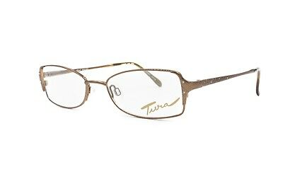 Made In Japan Rectangular Eyeglasses Woman Female Model Tura Mod. 525 // Bronze Prezzo Di Vendita Diretto In Fabbrica