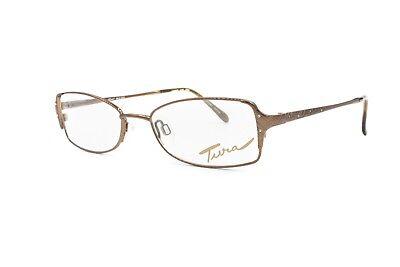 Cordiale Made In Japan Rectangular Eyeglasses Woman Female Model Tura Mod. 525 // Bronze Ultima Tecnologia