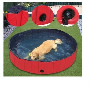 Foldable-Dog-Swimming-Pool-Outdoor-Portable-Pet-Bathing-Tub-Leakproof-Pool
