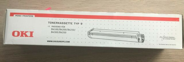 original Tonerkassette Typ 9 schwarz für OKI B4100 B4200 B4250 B4300 B4350