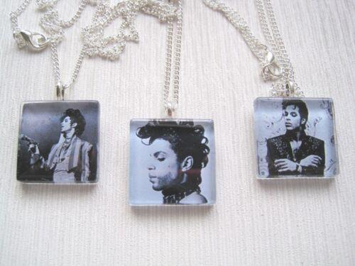El Príncipe Negro y Blanco Foto SP Collar y colgante de cristal del azulejo