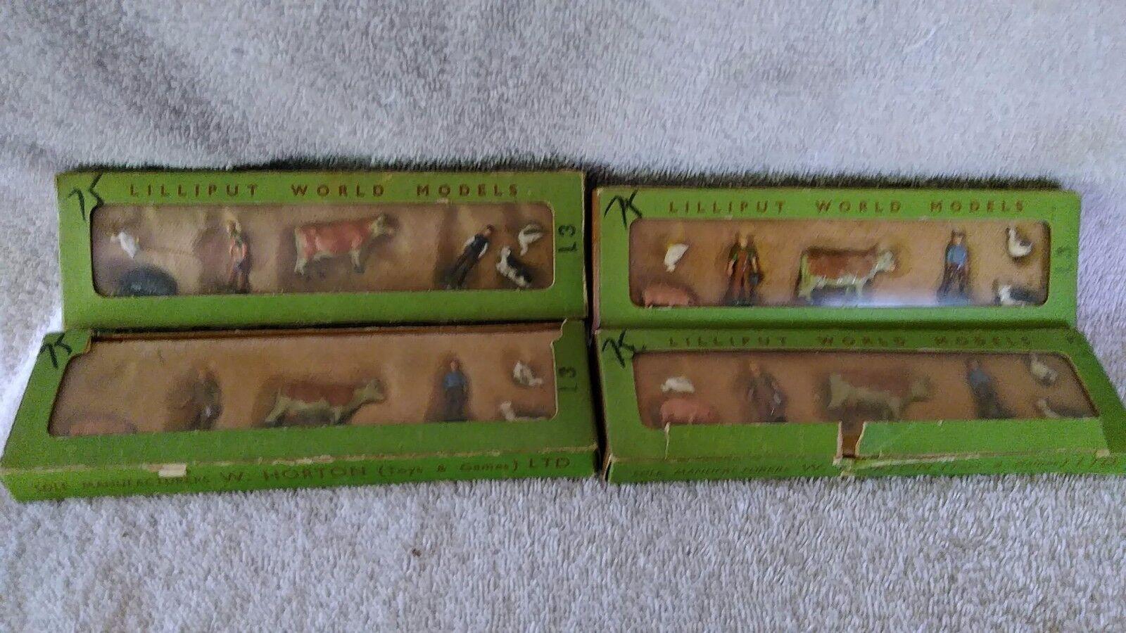 W. Horton Gran Bretaña Lilliput mundo HO calibre  459993 animales de granja gente y Vaca + +