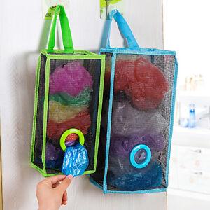 Image Is Loading Uk Hanging Mesh Carrier Bag Storage Holder Dispenser