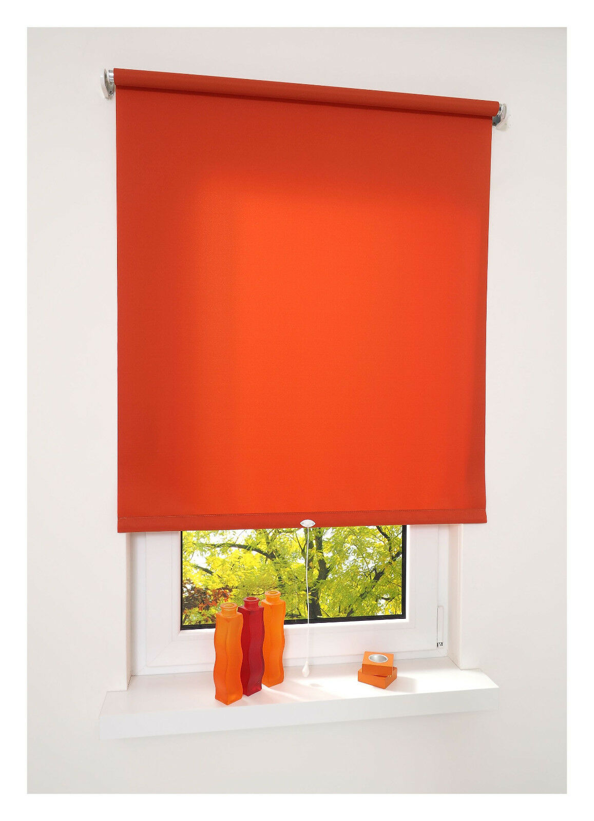 Springrollo Springrollo Springrollo Terracotta Mittelzugrollo Tür Fensterrollo Sichtschutz Dekoration TL | Passend In Der Farbe  024d81