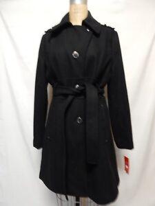 Nero Coat Donna Belted Wool Melton Kenneth Nwt Plush Cole 0qzBAB