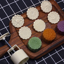 Cortadores de galletas 3D Moon Cake Mold Mooncake Mold Press 50g con 4 sellos de flores Herramientas de decoraci/ón para hornear DIY Cookie Pasteles redondos Mooncake Mold Cookies Mooncake Mold