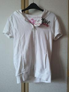 M&S Girls White Hello Kitty London Zipped Hoodie BNWT