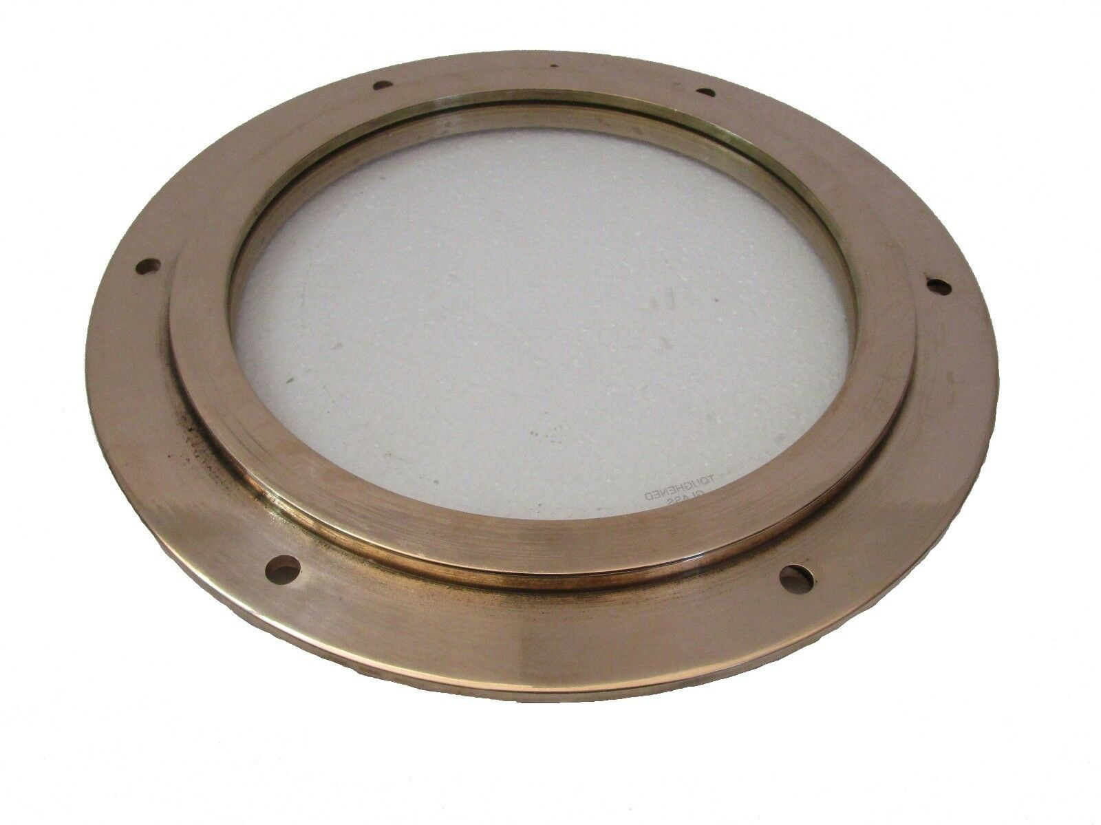 Marine BRASS PORT HOLE   Window   Porthole - 8 INCHES - TOUGHENED GLASS (5229)