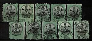 Hungary-Revenue-Stamps-Fiscal-Stempelmarken-Timbre-Fiscaux-Tax-Selcetion-2-perfs