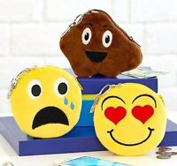 Set Of 3 Emoji Coin Purses Poop Smiley Crying Face And Heart Smiley