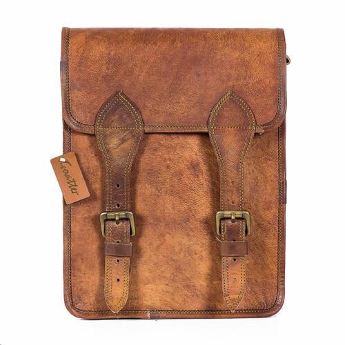 """15/"""" Vintage Briefcase Satchel Hipster Leather Laptop Messenger Bag Shoulder Men"""