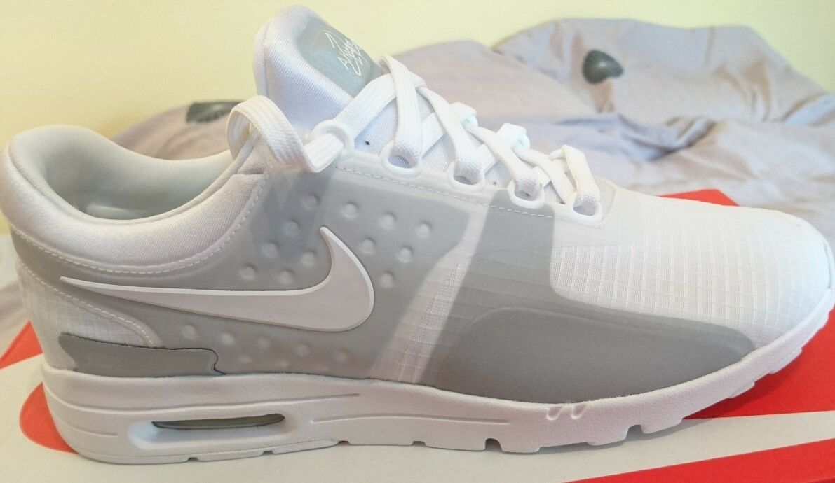 Nike Air Max Zero SI Uk 5 blanc and Wolf  Gris  Bnib ladies Femme 881173 100