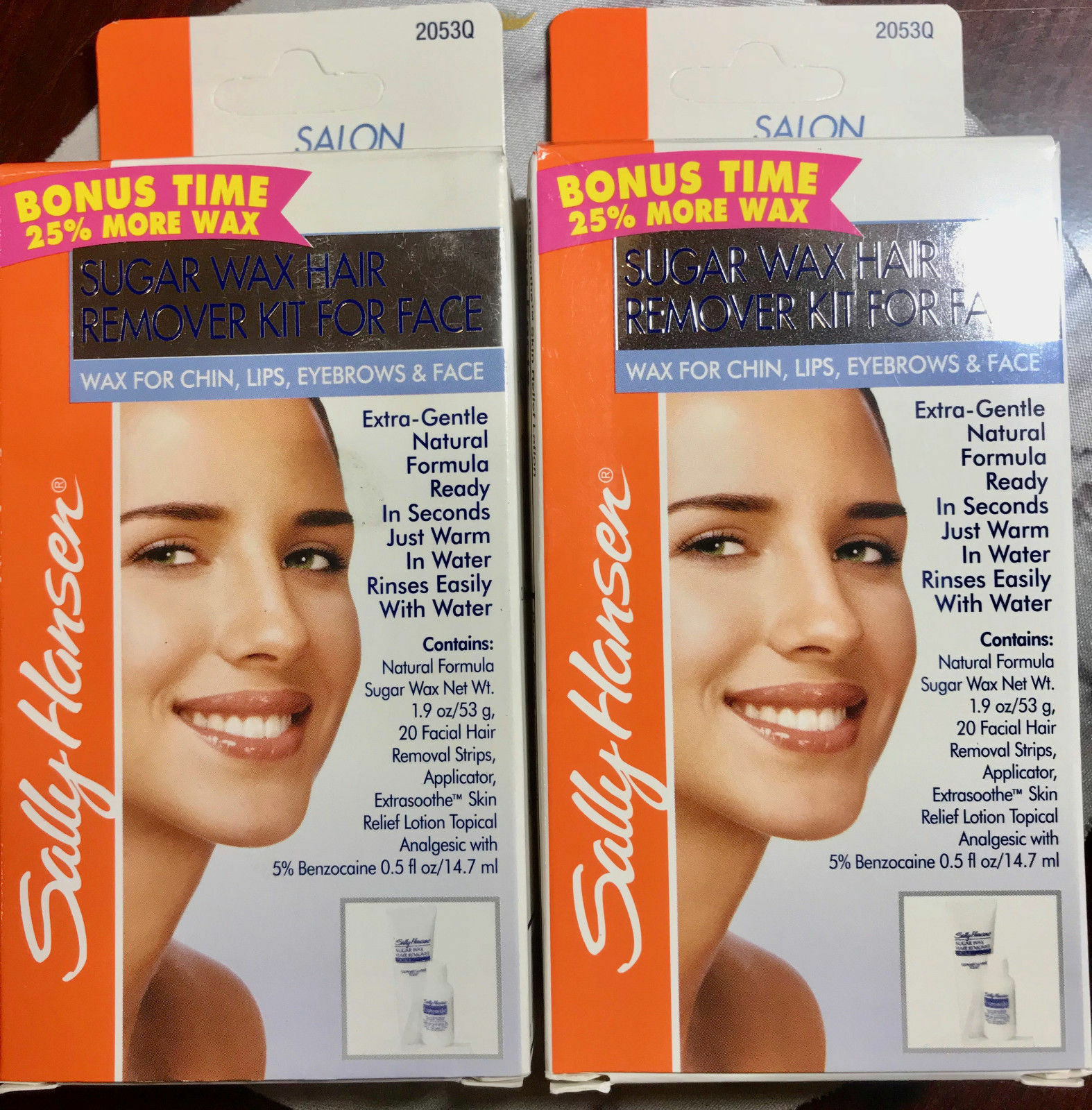 2x Sally Hansen Sugar Wax Hair Remover Kit For Face For Sale